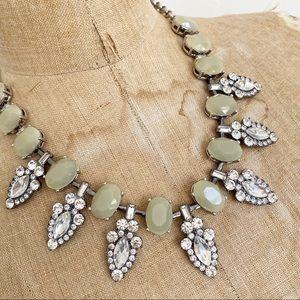 LIA SOPHIAp pale green crystal statement necklace